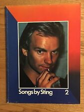 Songbook Songs By Sting Volume 2 With Bonus Magazine The Police 1980 Book