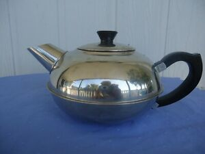 stainless steel teapot 6 cup black handle