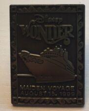 Disney Cruise Line - Wonder - Maiden Voyage - Bronze Stamp 1999 DCL Pin