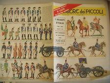 CORRIERE DEI PICCOLI N° 50 13/12/1964 CON FIGURINE SOLDATI D'ITALIA 1796-1815