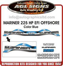 1999 - 2000 MARINER 225 hp MAGNUM EFI OFFSHORE 3.0 Litre  Decal set  BLUE