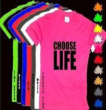 CHOOSE LIFE Unisex WHAM Pink T Shirt Black Print S-XXL