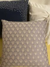 Ted Baker London 3 Assorted Decorative Throw Pillow 18x18 Navy White