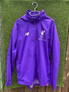 Liverpool FC New Balance Men's Training Rain  Jacket Coat Top / Large UK 125 YRS