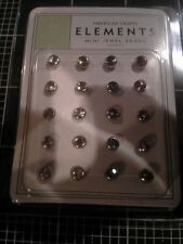 American Crafts elements Mini Jewel Brads 20 pc. - Pastels green blue pink