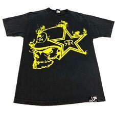 Metal Mulisha Unisex Graphic T-Shirt Black Yellow Crew Neck 100% Cotton Tee M