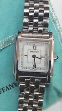 Tiffany & Co. Women's Stainless Steel Square shaped watch Swiss Made
