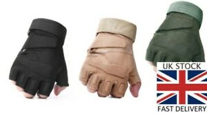 Tactical Half Finger Gloves Men's Army Military Combat Airsoft Patrol Paintball