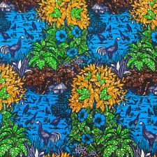 African Print Fabric 100% Cotton 44'' wide sold by the yard (90189-4)