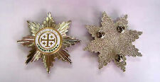 Medieval Crusades Knight Sepulchre Cross Jerusalem Militia Holy Ghost Medal Star