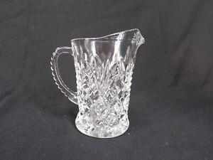 Vintage Clear Pressed Glass Creamer Milk Pitcher