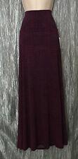 Women's Lularoe Long Maxi Skirt Size Small Black Red Check Pattern Stretch