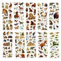 10Pcs Fun Stickers Dinosaurier Aufkleber HOT~