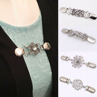 Women Duck Clip Cardigan Shawl Scarves Shirt/Sweater Collar Brooch Pin Clasp