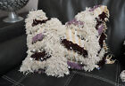 Moroccan Pillow Vintage Handmade Wedding Blanket Handira Berber Fringe Cushion