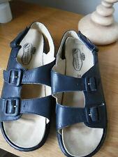 Ladies Scholl Sandals Navy Size 5 Adjustable & Removable Insole EU38