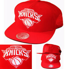 Mitchell & Ness New York Knicks Red Snapback Hat NBA Conference Side Patch Cap