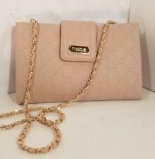 Brand New Bebe Dust Rose melissa embossed Saffiano Crossbody  wristlet Bag NWT