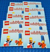 LEGO-MINIFIGURES SERIES 2 SIMPSONS -10 NEW LEAFLETS SIMPSONS 2 PLEASE READ