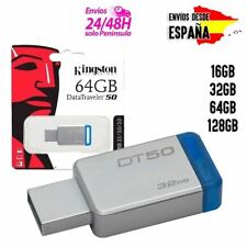 PENDRIVE KINGSTON USB DATATRAVELER 50 3.1 3.0 MEMORIA FLASH 16GB 32GB 64GB 128GB