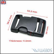 """30mm 1-1/4"""" Webbing Side Release Buckle Adjust Strap Hiking Camping Backpack"""