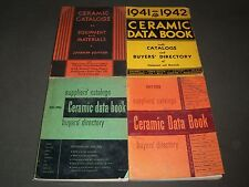 1934-1958 CERAMIC DATA BOOK CATALOG LOT OF 4 - BUYER'S DIRECTORY - O 1839