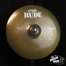 "Paiste 18"" Rude Thin Crash (video demo)"