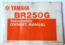 1982 YAMAHA BR250G SNOWMOBILE OWNERS MANUAL