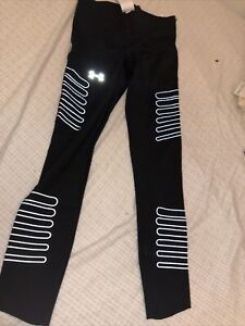 UNDER ARMOUR Accelerate Reflective Ultra Compression Black Running Tights Mens M