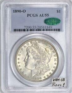 1890-O Morgan Dollar PCGS & CAC AU-55 VAM-1B Die Clash With VAMSeal Label, Rare!