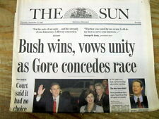 2 2000 newspapers Supreme Court rules GEORGE BUSH winner o PRESIDENTIAL ELECTION
