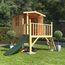4x4 BillyOh Bunny Max Tower Children Wooden Playhouse Outdoor Play with Slide