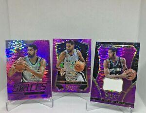 2013-14 Panini Select Basketball Tim Duncan Pink Pulsar SP/99 (GAME WORN PATCH)