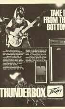 1979 Banner Thomas of Molly Hatchet with Peavey T-40 Bass - Vintage Ad