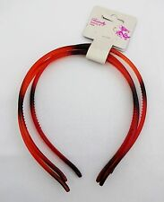 Tortoise thin plastic headbands 3 pieces 1/4 inch wide flexible DIY supply