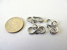 3 Bali Sterling Silver Classic S Clasps 17mm
