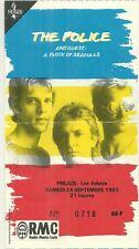 RARE / TICKET BILLET DE CONCERT - THE POLICE STING LIVE A FREJUS ( FRANCE ) 1983