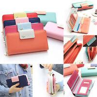 Women Lady PU Leather Wallet Purse Long Handbag Clutch Box Bag Card Holder Gift