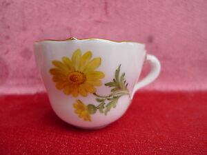 Belle, vieux Tasse __ Tasse à Café/Moka __ Décor Floral __Meissen__ 1Wahl__
