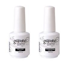 Elite99 15ML Soak Off Top Base Coat Primer Foundation Nail Art Sealer Gel Polish