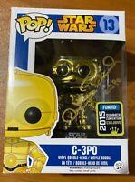 Anthony Daniels Signed Star Wars SDCC C-3PO 13 Funko Pop - JSA NN49068