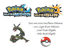 Pokemon Ultra Sun and Moon Nobunaga Japan Event Pokemon Shiny Rayquaza