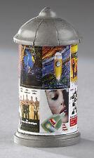 3 Stück Kahlert H0 Litfaßsäule 19 V; Werbung 40er-90er für Modellbahn #30800 x3