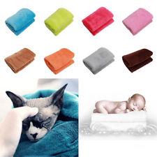 Luxury Warm Micro Flannel Plain Fleece Blanket Home Sofa Bed Throw Rug 50*70 NEW