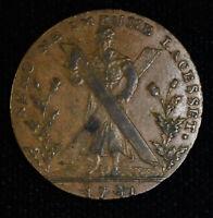 Conder Token Scotland-Lothian 1/2 Penny 1791 DH#39 Edinburgh Hutchisons