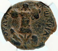 TITUS Authentic Ancient JUDAEA CAPTA Caesarea Maritima Roman Coin NGC i83596