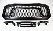 Front Upper Matte Black Mesh Rebel Style Grill For Ram 1500 2013-2017
