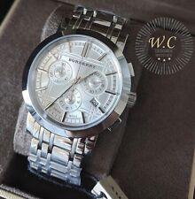 BURBERRY BU1372 - Mens Heritage Chronograph Swiss Watch - W/BOX, TAGS ETC.