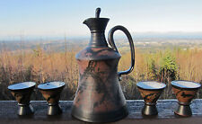 Rare Louis Mideke Art Pottery Sake Set.. MINT! From A Private Collection. Signed