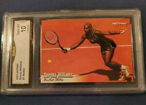 2003 Netpro Tennis Serena Williams Rookie Card #1 GRADED GMA GEM MINT 10